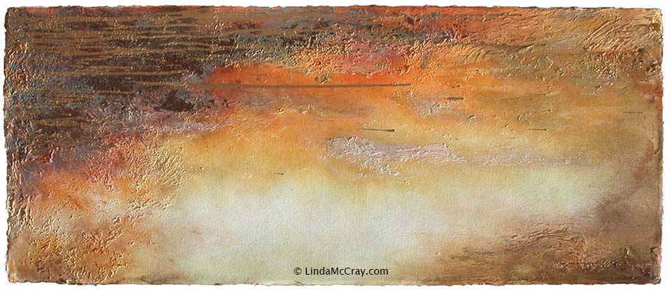 Abstract spiritual painting by Linda McCray